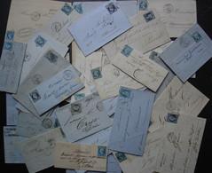 53 Lettres Classiques De France, Lot De Lettres, Différentes Provenances, Voir Photos De Détail - 1849-1876: Classic Period