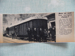 1956 Chasse Neige En Gare SNCF De TOURNON Ardèche Train Des CFD Du Vivarais - Non Classés