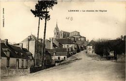 CPA AK LORMES - Le Chemin De L'Église (518420) - Lormes