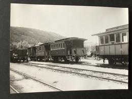 Photographie Originale De J.BAZIN : Voitures Voyageurs  à Ottrott Ligne De ROSHEIM  à OTTROT En 1950 - Treinen