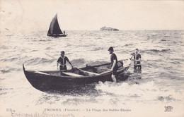 CPA 29 @ TREBOUL - Environs De Douarnenez - La Plage Des Sables Blancs En 1921 - Retour En Barque - Voilier - ND 113 - Tréboul
