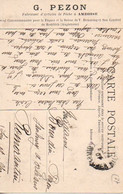 G. PEZON: Fabricant D'Articles De Pêche à AMBOISE 1907 - Reclame