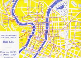 Au Plus Rapide Lyon Sept 1958 Plan Réseau OTL Trolleybus Vetra Funiculaire St Just Autocar Berliet - Europa