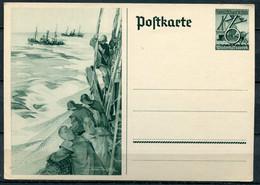 """German Empires 1938 Ganzsache"""" WHW-Seefahrt, Kogge"""" Mi. Nr.P 266.in Mint, Ungebrauchten Zustand - Postwaardestukken"""
