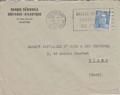 GANDON SUR LETTRE DE NANTES 1947 - 1921-1960: Modern Period
