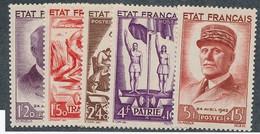 EC-313: FRANCE:  Lot Avec N°576/580** - Unused Stamps
