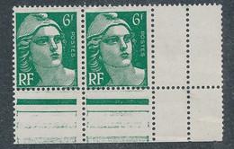 EC-314: FRANCE:  Lot Avec N°884a**-884** Se Tenant - 1945-54 Marianne Of Gandon