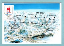 Carte Maximum 1990 - XVIe Jeux Olympiques D'hiver Albertville 92  - La Flamme Olympique - YT 2632 - 73 Albertville - 1990-99