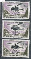 EC-319: REUNION:  Lot Avec PA N°60** (3) - Airmail