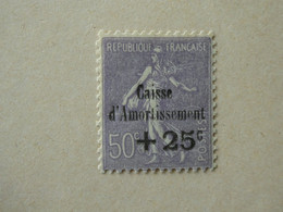 FRANCE Caisse D'amortissement N° 276 Neuf Sans Charnière Cote 300 € - Sinking Fund