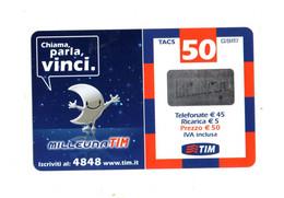 Ricaricard -  MILLEUNA TIM - Chiama,parla,vinci - 50 € - Validità  Dic. 2006 -  LUN50-P   ETU-D2 - Ricarica Già USATA - GSM-Kaarten, Aanvulling & Voorafbetaald