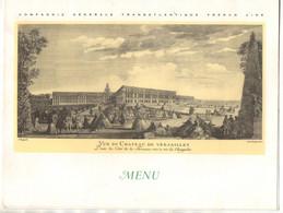 """Menu Déjeuner Et Diner Sur Le Paquebot """"Flandre"""" En 1967 Compagnie Générale Transatlantique French Line - Boten"""