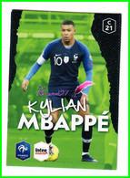 Carte PANINI Football FFF France 2018 Intermarché  N° C21 KYLIAN MBAPPÉ - Edición Francesa