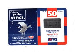 Ricaricard -  MILLEUNA TIM - Chiama,parla,vinci - 50 € - Validità  Giu. 2007 -  MID50-P   ETU-D2 - Ricarica Già USATA - GSM-Kaarten, Aanvulling & Voorafbetaald
