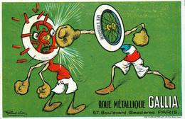 MICHELIN Michelin Roue Métallique GALLIA * CPA Publicitaire Ancienne Illustrateur Raoul VION * Automobile Cycle - Reclame