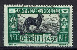 Saint-Pierre-et-Miquelon, 10c, Chien Terre-Neuve, 1932, Obl, TB Superbe Cachet - Postage Due