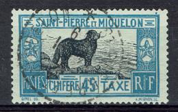 Saint-Pierre-et-Miquelon, 45c, Chien Terre-Neuve, 1932, Obl, TB Superbe Cachet - Postage Due