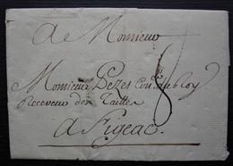 1759 Lettre De Paris Pour Figeac, Adressée Au Receveur Des Tailles - 1701-1800: Precursors XVIII