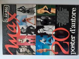 M#0X05 MAX 20 POSTER D'AUTORE 1998/ASIA ARGENTO/G.CLOONEY/JOHNNY DEPP/LEONARDO DI CAPRIO/A.FALCHI/RICKY MARTIN/D.MOOORE - Posters