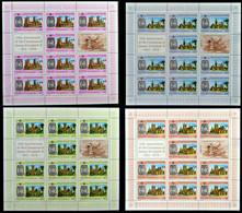 CV:€336.00 TUVALU 1978 Coronation Big Castles SPECIMEN Sheetlets:4x12 Stamps - Tuvalu