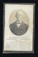DOODSPRENTJE * CONSTANT TEIRLINCK * WYNCKEL ST KRUIS * 1833 - 1909 * FOTO * 2 SCANS - Avvisi Di Necrologio