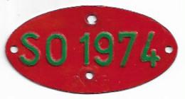 Velonummer Solothurn SO 74, Veloanhänger Rarität ! - Nummerplaten