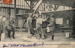 AVIATION      CPA   Paris-Rome 28 Mai 1911 - Appareil Morane Piloté Par Frey Faisant Son Plein D'Automobiline - Meetings