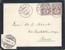 Trauerbrief  Parpan - Basel         1895 - Briefe U. Dokumente