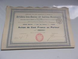 BRIDES LES BAINS & SALINS MOUTIERS (1918) Eaux Minerales Et Thermales - Non Classificati