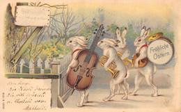 Fröhliche Ostern - Lapins Musiciens, Violoncelle, Trompette, Caisse - Ostern