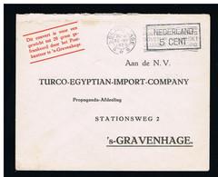 Geuzendam PP29-2 TURCO-EGYPTIAN-IMPORT-COMPANY 's Gravenhage 30 Aug 1929 - 5 Cent Zwart - Material Postal