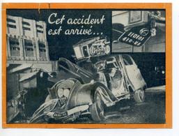 """Dépliant """"Cet Accident Est Arrivé..."""" Gendarmerie Nationale RN10 Chartres 1950 Sensibilisation Sécurité Voiture Camion - Auto's"""