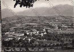CARTOLINA  S.DANIELE DEL FRIULI M.240,UDINE,FRIULI VENEZIA GIULIA,VEDUTA CON ZULINS E BRONZACCO,MEMORIA,VIAGGIATA 1955 - Udine