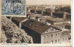 POLOGNE - Lodz Domy Robotnicze Na Ksiezym-Mtynie TIMBRE 1939 1945 Warszawa Katedra Jana CENSURE MILITAIRE N° 562 De 1945 - Pologne