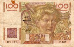 France - 100 Francs - Jeune Paysan - 2.11.1951 -  2 Scans - - 100 F 1945-1954 ''Jeune Paysan''