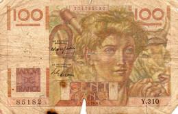 France - 100 Francs - Jeune Paysan - 15.2.1949 -  2 Scans - - 100 F 1945-1954 ''Jeune Paysan''