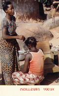 CP ABIDJAN COTE D'IVOIRE - CARTE DE VOEUX - SCENE DE VIE - Ivoorkust