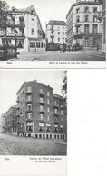 BELGIQUE - SPA - HOTEL DE LAEKEN - ANNEXE DE L'HOTEL DE LAEKEN - 2 CPA TRES BON ETAT Edit. Mlle Depouhon - Spa