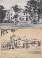 Woodcroft Tower Hotel Bournemouth 2x Rare Postcard S - Bournemouth (desde 1972)