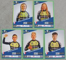 Cyclisme : 5 Cartes Individuelles Du Team Podiocom - Cyclo Cross - Cycling