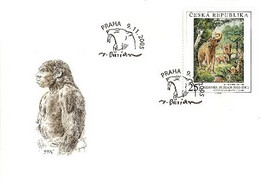 FDC 453 Czech Republic Burian, Deinotherium 2005 Saber Cat Cancel Evolution Of Man - Elephants