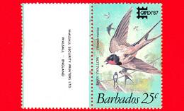 Nuovo - MNH - BARBADOS - 1987 - Mostra Filatelica Capex '87 - Uccelli - Rondine - Barn Swallow (Hirundo Rustica) - 25 - Barbados (1966-...)