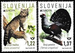 Europa Cept - 2021 - Slovenia - 2.Stamps - (Wildlife) ** MNH - 2020