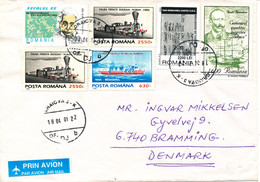 Romania Cover Sent Air Mail To Denmark Craiova 18.4.2001 Multi Franked Also Stamps On The Backside Og The Cover - Lettres & Documents