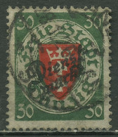 Danzig Dienstmarke 1924 Staatswappen Mit Aufdruck D 47 A Gestempelt - Danzig