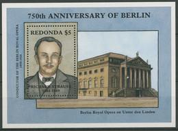 Antigua - Redonda 1987 Berlin Richard Strauss Block 46 Postfrisch (C94218) - Antigua And Barbuda (1981-...)