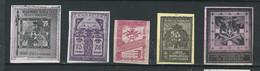 5 VIGNETTES DELANDRE Italie ITALIA Regiment Erinofili Guerra WWI WW1 Cinderellas Poster Stamps 1914 1918 - Military Heritage