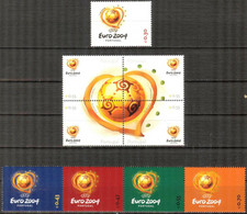 Portugal 2003 Football Soccer EURO 2004 Set Of 9 MNH Value 4,65 Eur. - Unused Stamps