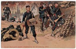 MILITARIA. GARDE NATIONALE MOBILE ( INFANTERIE ) De STRASBOURG. 1870. - Regiments