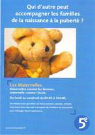 """Carte Postale """"Cart'Com"""" (2001) - La Cinquième (nounours) Les Maternelles - Reclame"""